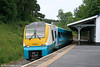 175004 departs from Narberth forming the 0709 Pembroke Dock to Manchester Piccadilly on 3rd July 2010.