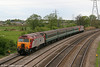 57302 'Virgil Tracy' at the rear of 5U89, 1402 Taunton to Cardiff Canton ECS at Duffryn on 1st May 2010.