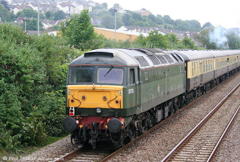47773 brings up the rear of 1Z61, 1635 Swansea to Solihull, the return 'Red Dragon' railtour on 19th June 2010.