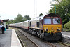 66006 waits at Llandovery with UK Railtours 1Z39, 0735 London Paddington to Llandrindod Wells on 27th August 2011.