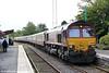 66006 waits at Llandovery with UK Railtours 1Z39, 0735 London Paddington to Llandrindod Wells on 27th August 2011.