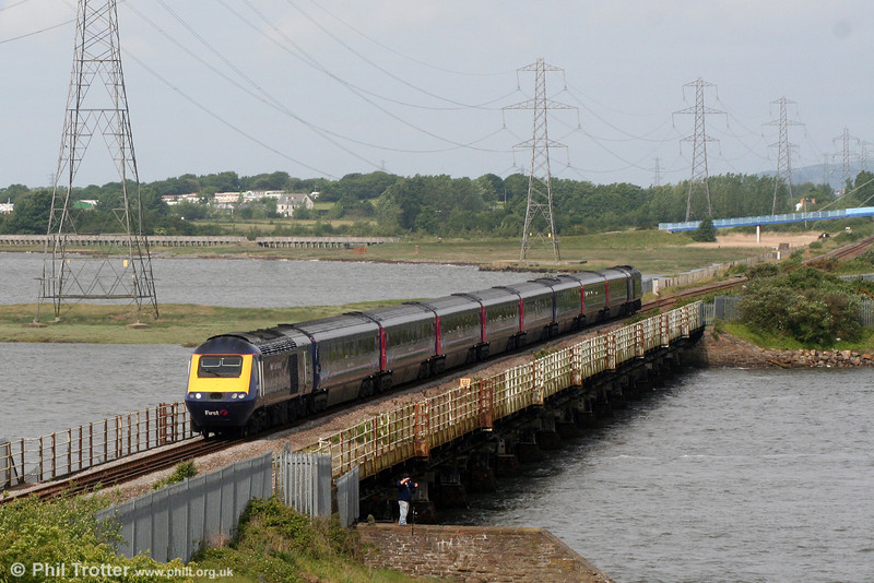 The 0935 Carmarthen to London Paddington crosses Loughor Viaduct on 21st May 2011.