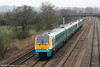 175101 leads a pair of 175s through Duffryn forming the 0425 Holyhead to Cardiff Central on 1st March 2011.