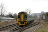 158818 at Craven Arms Junction forming the 1120 Cardiff Central to Holyhead on 12th March 2011.
