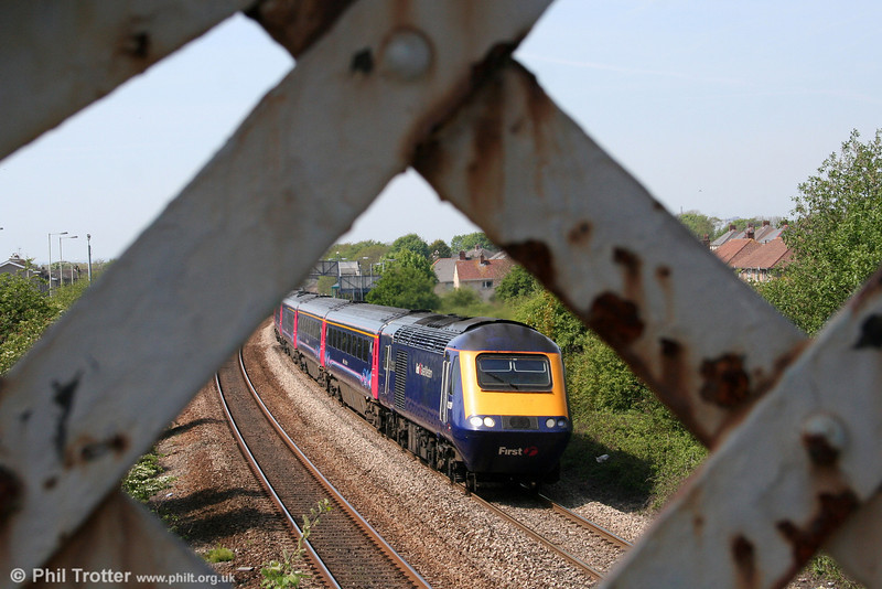 FGW 43139 'Driver Stan Martin' heads through Pyle with the 1328 Swansea to London Paddington on 24th April 2011.