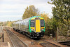 172338 approaches Stourbridge Junction forming the 1246 Dorridge to Worcester Foregate Street on 29th October 2011.