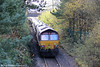 66061 passes Seven Sisters at the rear of UK Railtours 1Z66, 1342 Onllwyn to London Paddington via Cwmgwrach and Llanelli, 'The Valley of the Witch' on 22nd October 2011.