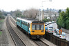 142080 passes the daily queue of homebound commuter traffic at Eastbrook with the 1525 Barry Island to Merthyr Tydfil on 1st March 2011.