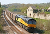 Colas 66843 passes Llangewydd with 6Z78, 1405 Margam to Dollands Moor (and, ultimately, Rotterdam) on 17th April 2011. This was only the second occasion on which this working had been hauled by a Colas class 66.