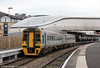 Soon to be refurbished 158836 departs from Newport forming the 1033 Holyhead to Cardiff Central on 24th October 2011.