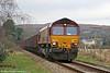 66014 near Hendy Junction with 6B05, 1355 Gwaun-cae-Gurwen to Swansea Burrows on 27th January 2011.