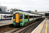 377407 departs from Southampton Central forming the 1213 to London Victoria on 9th November 2011.