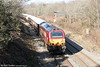 67002 brings up the rear of the Northern Belle rake running as 1Z24, 1108 Cardiff Central to Milford Haven at Allt-y-Graban on 4th March 2011.