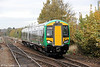 172218 approaches Stourbridge Junction forming the 1319 Whitlocks End to Great Malvern on 29th October 2011.