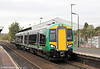 172219 departs from Stourbridge Junction forming the 1219 Whitlocks End to Worcester Shrub Hill on 29th October 2011.
