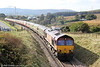 66061 at Tynewydd, near Onllwyn with UK Railtours 1Z65, 0806 London Paddington to Onllwyn, 'The Valley of the Witch' on 22nd October 2011. 66091 was at the rear on this section of the tour.