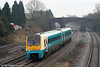 Not commonly seen out this way, 175006 passes Undy forming the 0845 Cheltenham Spa to Maesteg on 22nd January 2011.