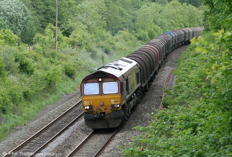 66102 near Llanharan with 6B04, 1459 Llanwern to Margam on 14th May 2011.