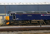 The normally nocturnal 57603 'Tintagel Castle' is caught on shed at Old Oak Common on 12th November 2011.