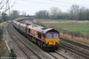 66109 passes Duffryn with 4E66, 0855 Margam to Redcar coke empties on 1st March 2011.
