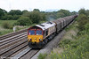 66021 at Coedkernew with 6B04, 1448 Llanwern to Margam on 11th June 2011.