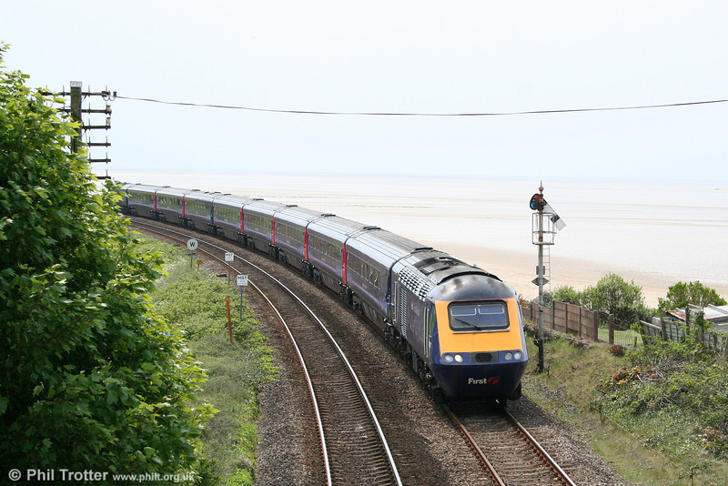 FGW's 0930 London Paddington to Carmarthen is seen at Ferryside on 1st May 2011.