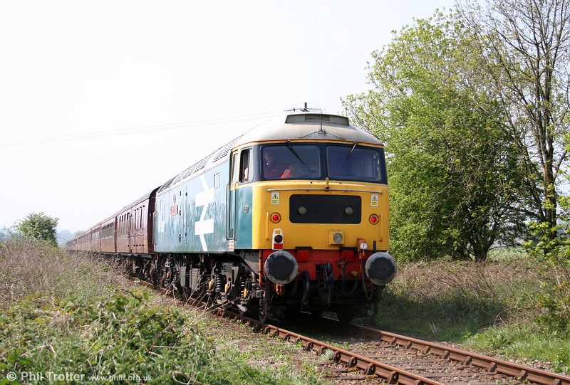 47580 'County of Essex', appropriately carrying 1980s Eastern Region livery, at Manordeilo, bringing up the rear of Spitfire Railtours 1Z51, 0619 Preston to Fishguard Harbour, 'The Welshman' on 30th April 2011.