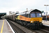 Colas 66841 waits for the road at Didcot Parkway with 6O78, 1546 Llanwern to Dollands Moor on 15th June 2011.