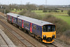 Now available in blue: 150121, recently repainted in FGW livery, passes Coedkernew forming the midday Cardiff Central to Taunton on 5th February 2011.