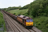 60096 climbs Stormy Bank with 6H27, 1444 Margam to Llanwern steel slabs on 8th May 2011.