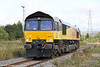 66742 (ex- 66841) heads off light from Margam Knuckle Yard to Llanwern on 29th August 2011.