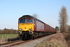 West Coast's 57601 is seen at Manordeilo with private charter 1Z66, 0735 Carnforth to Haverfordwest on 19th March 2011.
