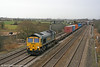 66538 passes Coedkernew with 4O51, 1244 Wentloog to Southampton on 5th February 2011.