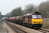 60096 is seen a Pyle with 6B13, 0505 Robeston to Westerleigh on 26th March 2011.