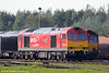 The first of the Class 60 rebuilds, 60007 'The Spirit of Tom Kendell' stabled at Margam Knuckle Yard on 1st October 2011.