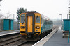 153367 calls at Llangennech forming the 1821 Swansea to Shrewsbury on 28th March 2011.