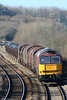 60096 begins the climb to Stormy Summit with 6B03, 0910 Trostre to Llanwern on 12th February 2011.