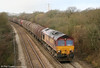 66089 climbs Stormy Bank with 6H27, Margam to Llanwern on 12th February 2011.