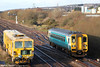 153323 passes Llandeilo Junction with the 0940 Carmarthen to Swansea on 18th December 2011.