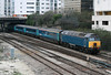 Unbranded 57313 leaves Cardiff with 1W91, 1615 Cardiff Central to Holyhead on 1st March 2011.