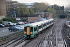 377309 arrives at Southampton Central forming the 0627 from Brighton on 10th November 2011.