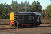 Long term Alstom/West Coast Traincare resident 08617 sits in the evening sunshine at Stonebridge Park Carriage Sidings on 31st May 2011.