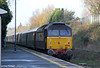 DRS 47832 'Solway Princess' at Gowerton bringing up the rear of 1Z22, 1208 Cardiff Central to Fishguard Harbour on 7th December 2011.
