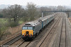 57313 passes Duffryn with with 1V31, 0532 Holyhead to Cardiff Central on 1st March 2011.