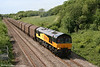 Colas 66841 climbs Stormy Bank, with 6Z78, 1345 Margam to Dollands Moor for Rotterdam on 8th May 2011.