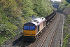 60096 brings up the rear of 6B61, 1130 Trostre to Margam on Cockett Bank on 10th April 2011.
