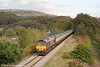 An autumnal scene at Aberdulais with 66091 leading UK Railtours 1Z66, 1342 Onllwyn to London Paddington via Cwmgwrach and Llanelli, 'The Valley of the Witch' (a translation of Cwmgwrach) on 22nd October 2011. 66061 was at the rear on this section of the tour.