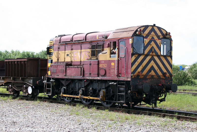 A second view of 08752 at Margam Knuckle Yard on 8th May 2011.
