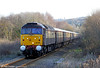 DRS's Northern Belle liveried 47790 'Galloway Princess' approaches Gowerton with 1Z22, 1208 Cardiff Central to Fishguard Harbour on 7th December 2011. 47832 'Solway Princess' was at the rear.
