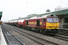 In steady drizzle, 60096 is seen at Cardiff Central with 6B13, 0505 Robeston to Westerleigh on 23rd February 2011.